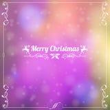 Αναδρομικό πλαίσιο Χριστουγέννων Στοκ εικόνες με δικαίωμα ελεύθερης χρήσης