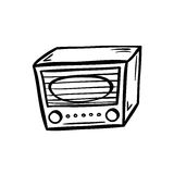 Αναδρομικό ραδιο doodle Στοκ φωτογραφία με δικαίωμα ελεύθερης χρήσης