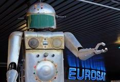 αναδρομικό ρομπότ Στοκ εικόνες με δικαίωμα ελεύθερης χρήσης