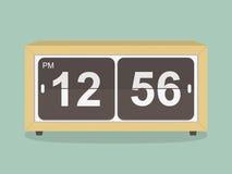 Αναδρομικό ρολόι.  απεικόνιση Στοκ Εικόνες