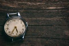 αναδρομικό ρολόι Στοκ εικόνα με δικαίωμα ελεύθερης χρήσης