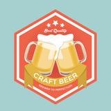 Αναδρομικό σημάδι μπύρας τεχνών διανυσματική απεικόνιση
