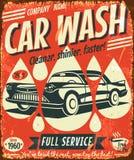 Αναδρομικό σημάδι πλυσίματος αυτοκινήτων Στοκ Εικόνες