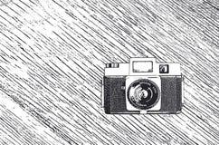 Αναδρομικό σκίτσο καμερών Στοκ Εικόνες