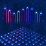 Αναδρομικό στάδιο disco με τον ψηφιακό εξισωτή Στοκ Εικόνες