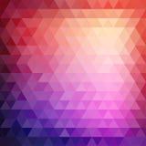 Αναδρομικό σχέδιο μωσαϊκών των γεωμετρικών μορφών τριγώνων Στοκ Εικόνα