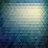 Αναδρομικό σχέδιο μωσαϊκών των γεωμετρικών μορφών τριγώνων Στοκ φωτογραφίες με δικαίωμα ελεύθερης χρήσης