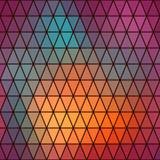 Αναδρομικό σχέδιο των γεωμετρικών μορφών Ζωηρόχρωμη πλάτη μωσαϊκών τριγώνων Στοκ εικόνες με δικαίωμα ελεύθερης χρήσης