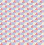 Αναδρομικό σχέδιο των γεωμετρικών μορφών ζωηρόχρωμο μωσαϊκό Στοκ Εικόνα