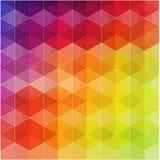 Αναδρομικό σχέδιο των γεωμετρικών μορφών ζωηρόχρωμο μωσαϊκό Στοκ Φωτογραφία