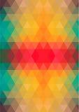 Αναδρομικό σχέδιο των γεωμετρικών μορφών Στοκ Εικόνα