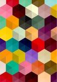 Αναδρομικό σχέδιο των γεωμετρικών μορφών Στοκ εικόνα με δικαίωμα ελεύθερης χρήσης