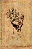 Αναδρομικό σχέδιο χεριών ρομπότ Στοκ Εικόνα