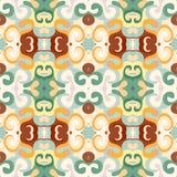 Αναδρομικό σχέδιο χρώματος ταπετσαριών άνευ ραφής Στοκ φωτογραφία με δικαίωμα ελεύθερης χρήσης
