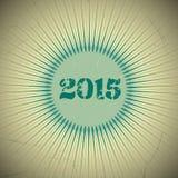 Αναδρομικό σχέδιο 2015 Στοκ φωτογραφία με δικαίωμα ελεύθερης χρήσης