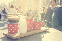 Αναδρομικό σύνολο καφέ Στοκ Φωτογραφία