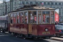 αναδρομικό τραμ Στοκ Εικόνες