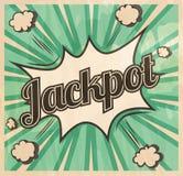 Αναδρομικό υπόβαθρο πινακίδων τζακ ποτ ύφους Έκρηξη κόμικς βραχιόνων Στοκ Εικόνες