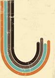 Αναδρομικό υπόβαθρο αφισών. Διανυσματική απεικόνιση σε παλαιό Στοκ εικόνες με δικαίωμα ελεύθερης χρήσης
