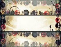 Αναδρομικό υπόβαθρο Grunge άνοιξη floral Στοκ Φωτογραφίες