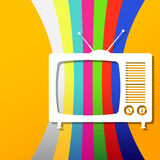 Αναδρομικό υπόβαθρο TV Στοκ Εικόνες