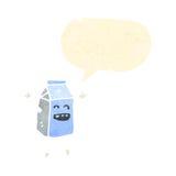 αναδρομικό χαρτοκιβώτιο γάλακτος κινούμενων σχεδίων Στοκ Εικόνες
