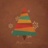 Αναδρομικό χριστουγεννιάτικο δέντρο ελεύθερη απεικόνιση δικαιώματος