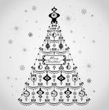 Αναδρομικό χριστουγεννιάτικο δέντρο Στοκ Φωτογραφίες