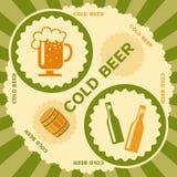 αναδρομικό ύφος ετικετών σχεδίου μπύρας Στοκ φωτογραφία με δικαίωμα ελεύθερης χρήσης