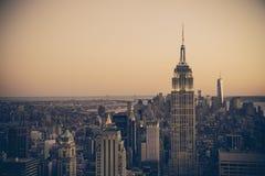 Αναδρομικό ύφος πόλεων της Νέας Υόρκης στοκ εικόνες