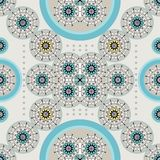 Αναδρομικό ethnic_blue απεικόνιση αποθεμάτων