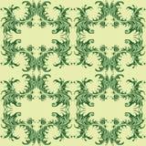 Αναδρομικό floral κύμα ταπετσαριών σχεδίων Στοκ Φωτογραφίες