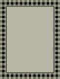 Αναδρομικό gingham πλαισίων Στοκ φωτογραφίες με δικαίωμα ελεύθερης χρήσης