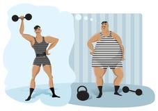 Αναδρομικό weightlifter Στοκ Φωτογραφίες