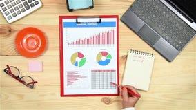 Αναλύει τα οικονομικά διαγράμματα απόθεμα βίντεο
