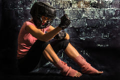 Αναλύοντας μαχητής Στοκ Εικόνες