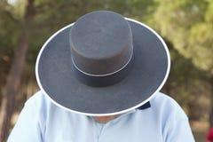 ανδαλουσιακό άτομο καπέ&l στοκ εικόνα