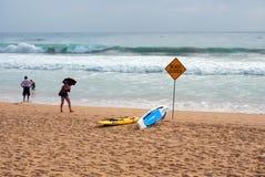 Ανδρική παραλία που κλείνουν για τη βαριά κυματωγή, Αυστραλία Στοκ εικόνα με δικαίωμα ελεύθερης χρήσης