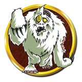 Ανδρικό ζώο Yeti Zombie Απεικόνιση αποθεμάτων