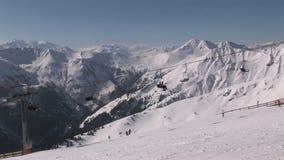Ανελκυστήρας στην Αυστρία απόθεμα βίντεο