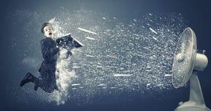 Ανεμιστήρας που προκαλεί το χιόνι Στοκ Εικόνα