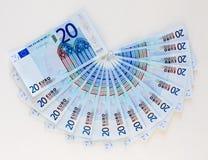 Ανεμιστήρας των ευρώ Στοκ εικόνα με δικαίωμα ελεύθερης χρήσης