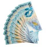 Ανεμιστήρας των ολυμπιακών λογαριασμών εκατό-ρουβλιών Στοκ Εικόνες