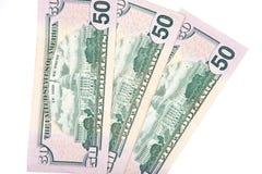 Ανεμιστήρας των τραπεζογραμματίων αμερικανικών δολαρίων Στοκ εικόνα με δικαίωμα ελεύθερης χρήσης
