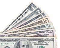 Ανεμιστήρας των τραπεζογραμματίων αμερικανικών δολαρίων Στοκ φωτογραφία με δικαίωμα ελεύθερης χρήσης
