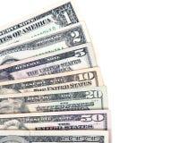 Ανεμιστήρας των τραπεζογραμματίων αμερικανικών δολαρίων Στοκ Εικόνα