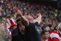 Ανεμιστήρες ποδοσφαίρου Στοκ φωτογραφία με δικαίωμα ελεύθερης χρήσης