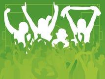 Ανεμιστήρες ποδοσφαίρου στοκ φωτογραφίες με δικαίωμα ελεύθερης χρήσης