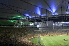 Ανεμιστήρες που διεγείρονται σε ένα στάδιο ποδοσφαίρου Στοκ Εικόνες