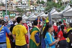 Ανεμιστήρες ποδοσφαίρου στο Παγκόσμιο Κύπελλο 2014 της FIFA Στοκ Φωτογραφίες